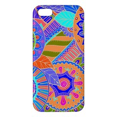 Pop Art Paisley Flowers Ornaments Multicolored 3 Apple Iphone 5 Premium Hardshell Case by EDDArt