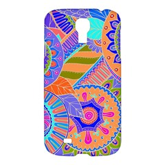 Pop Art Paisley Flowers Ornaments Multicolored 3 Samsung Galaxy S4 I9500/i9505 Hardshell Case by EDDArt