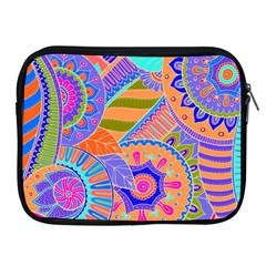 Pop Art Paisley Flowers Ornaments Multicolored 3 Apple Ipad 2/3/4 Zipper Cases by EDDArt