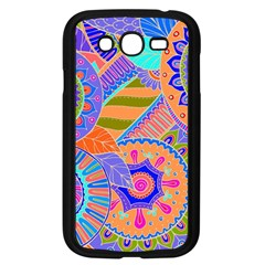 Pop Art Paisley Flowers Ornaments Multicolored 3 Samsung Galaxy Grand Duos I9082 Case (black) by EDDArt