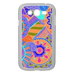 Pop Art Paisley Flowers Ornaments Multicolored 3 Samsung Galaxy Grand Duos I9082 Case (white) by EDDArt