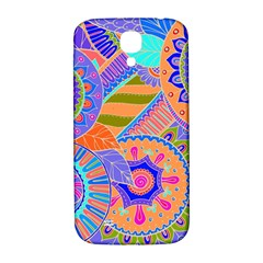 Pop Art Paisley Flowers Ornaments Multicolored 3 Samsung Galaxy S4 I9500/i9505  Hardshell Back Case by EDDArt
