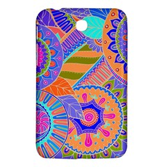 Pop Art Paisley Flowers Ornaments Multicolored 3 Samsung Galaxy Tab 3 (7 ) P3200 Hardshell Case  by EDDArt
