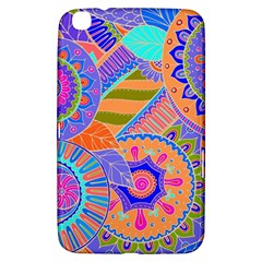 Pop Art Paisley Flowers Ornaments Multicolored 3 Samsung Galaxy Tab 3 (8 ) T3100 Hardshell Case  by EDDArt