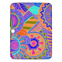Pop Art Paisley Flowers Ornaments Multicolored 3 Samsung Galaxy Tab 3 (10 1 ) P5200 Hardshell Case  by EDDArt
