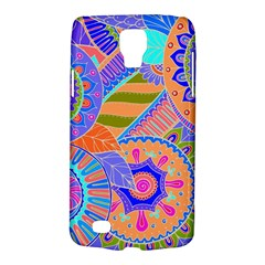 Pop Art Paisley Flowers Ornaments Multicolored 3 Samsung Galaxy S4 Active (i9295) Hardshell Case by EDDArt