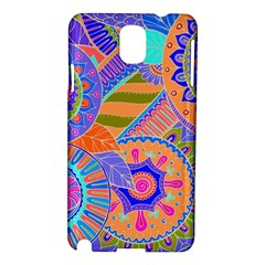 Pop Art Paisley Flowers Ornaments Multicolored 3 Samsung Galaxy Note 3 N9005 Hardshell Case by EDDArt
