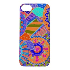 Pop Art Paisley Flowers Ornaments Multicolored 3 Apple Iphone 5s/ Se Hardshell Case by EDDArt