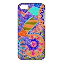 Pop Art Paisley Flowers Ornaments Multicolored 3 Apple Iphone 5c Hardshell Case by EDDArt