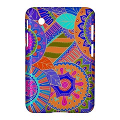 Pop Art Paisley Flowers Ornaments Multicolored 3 Samsung Galaxy Tab 2 (7 ) P3100 Hardshell Case  by EDDArt