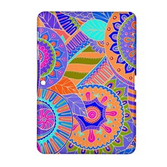 Pop Art Paisley Flowers Ornaments Multicolored 3 Samsung Galaxy Tab 2 (10 1 ) P5100 Hardshell Case  by EDDArt