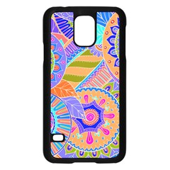 Pop Art Paisley Flowers Ornaments Multicolored 3 Samsung Galaxy S5 Case (black)