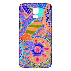 Pop Art Paisley Flowers Ornaments Multicolored 3 Samsung Galaxy S5 Back Case (white)