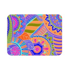 Pop Art Paisley Flowers Ornaments Multicolored 3 Double Sided Flano Blanket (mini)  by EDDArt