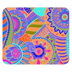 Pop Art Paisley Flowers Ornaments Multicolored 3 Double Sided Flano Blanket (small)  by EDDArt