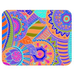 Pop Art Paisley Flowers Ornaments Multicolored 3 Double Sided Flano Blanket (medium)  by EDDArt