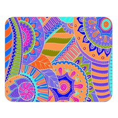 Pop Art Paisley Flowers Ornaments Multicolored 3 Double Sided Flano Blanket (large)  by EDDArt