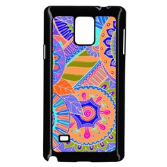 Pop Art Paisley Flowers Ornaments Multicolored 3 Samsung Galaxy Note 4 Case (black) by EDDArt
