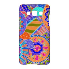 Pop Art Paisley Flowers Ornaments Multicolored 3 Samsung Galaxy A5 Hardshell Case  by EDDArt