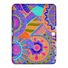 Pop Art Paisley Flowers Ornaments Multicolored 3 Samsung Galaxy Tab 4 (10 1 ) Hardshell Case  by EDDArt