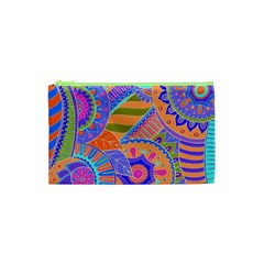 Pop Art Paisley Flowers Ornaments Multicolored 3 Cosmetic Bag (xs) by EDDArt