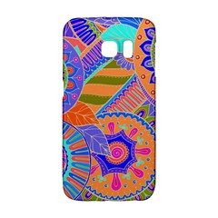 Pop Art Paisley Flowers Ornaments Multicolored 3 Samsung Galaxy S6 Edge Hardshell Case by EDDArt