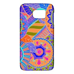 Pop Art Paisley Flowers Ornaments Multicolored 3 Samsung Galaxy S6 Hardshell Case  by EDDArt