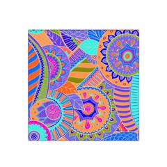 Pop Art Paisley Flowers Ornaments Multicolored 3 Satin Bandana Scarf by EDDArt
