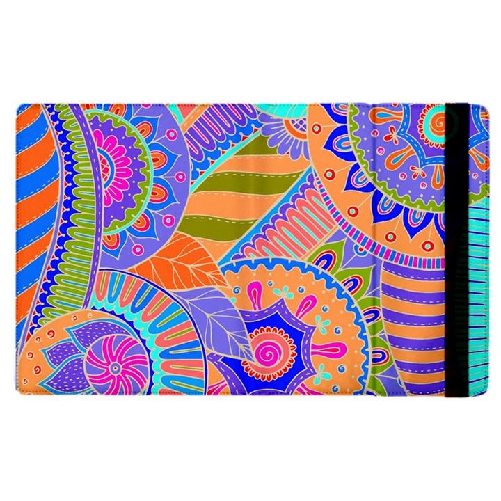 Pop Art Paisley Flowers Ornaments Multicolored 3 Apple iPad Pro 9.7   Flip Case