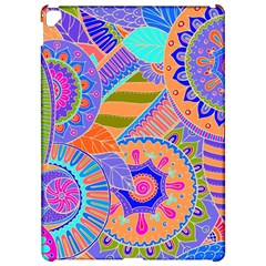 Pop Art Paisley Flowers Ornaments Multicolored 3 Apple Ipad Pro 12 9   Hardshell Case by EDDArt