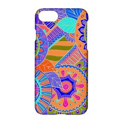 Pop Art Paisley Flowers Ornaments Multicolored 3 Apple Iphone 7 Hardshell Case