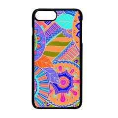 Pop Art Paisley Flowers Ornaments Multicolored 3 Apple Iphone 7 Plus Seamless Case (black) by EDDArt