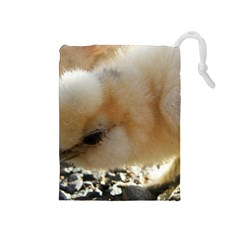 Silkie Chick  Drawstring Pouches (medium)  by IIPhotographyAndDesigns