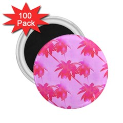 Palm Trees Pink Paradise 2 25  Magnets (100 Pack)  by CrypticFragmentsColors