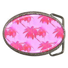 Palm Trees Pink Paradise Belt Buckles by CrypticFragmentsColors