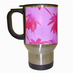 Palm Trees Pink Paradise Travel Mugs (white) by CrypticFragmentsColors
