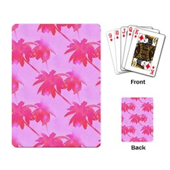 Palm Trees Pink Paradise Playing Card by CrypticFragmentsColors