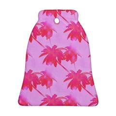 Palm Trees Pink Paradise Bell Ornament (two Sides) by CrypticFragmentsColors
