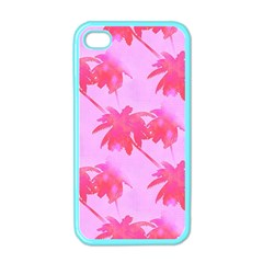 Palm Trees Pink Paradise Apple Iphone 4 Case (color) by CrypticFragmentsColors
