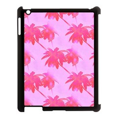 Palm Trees Pink Paradise Apple Ipad 3/4 Case (black) by CrypticFragmentsColors
