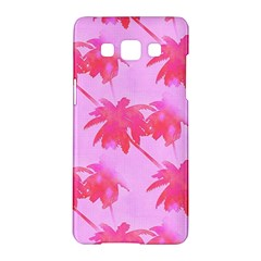 Palm Trees Pink Paradise Samsung Galaxy A5 Hardshell Case  by CrypticFragmentsColors