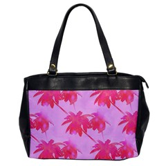 Palm Trees Pink Paradise Office Handbags by CrypticFragmentsColors