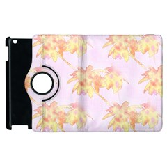 Palm Trees Tropical Summer Heat Apple Ipad 3/4 Flip 360 Case by CrypticFragmentsColors