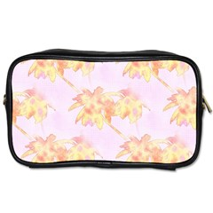 Palm Trees Tropical Summer Heat Toiletries Bags by CrypticFragmentsColors
