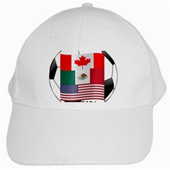 United Football Championship Hosting 2026 Soccer Ball Logo Canada Mexico Usa White Cap by yoursparklingshop