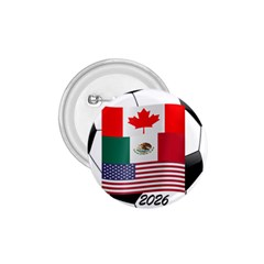 United Football Championship Hosting 2026 Soccer Ball Logo Canada Mexico Usa 1 75  Buttons by yoursparklingshop