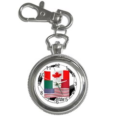 United Football Championship Hosting 2026 Soccer Ball Logo Canada Mexico Usa Key Chain Watches by yoursparklingshop