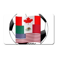 United Football Championship Hosting 2026 Soccer Ball Logo Canada Mexico Usa Magnet (rectangular) by yoursparklingshop