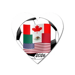 United Football Championship Hosting 2026 Soccer Ball Logo Canada Mexico Usa Heart Magnet by yoursparklingshop