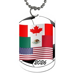 United Football Championship Hosting 2026 Soccer Ball Logo Canada Mexico Usa Dog Tag (one Side) by yoursparklingshop